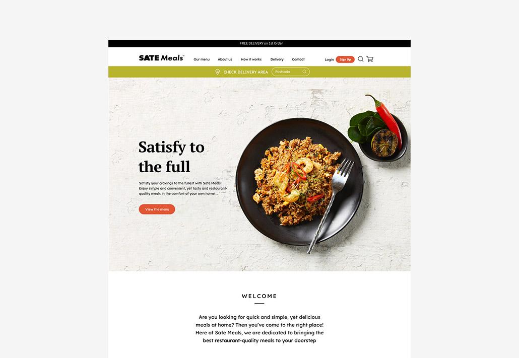 Sate Meals Website